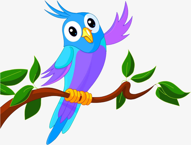 640x485 Cute Little Bird, Lovely, Cartoon, Hello Png Image For Free Download