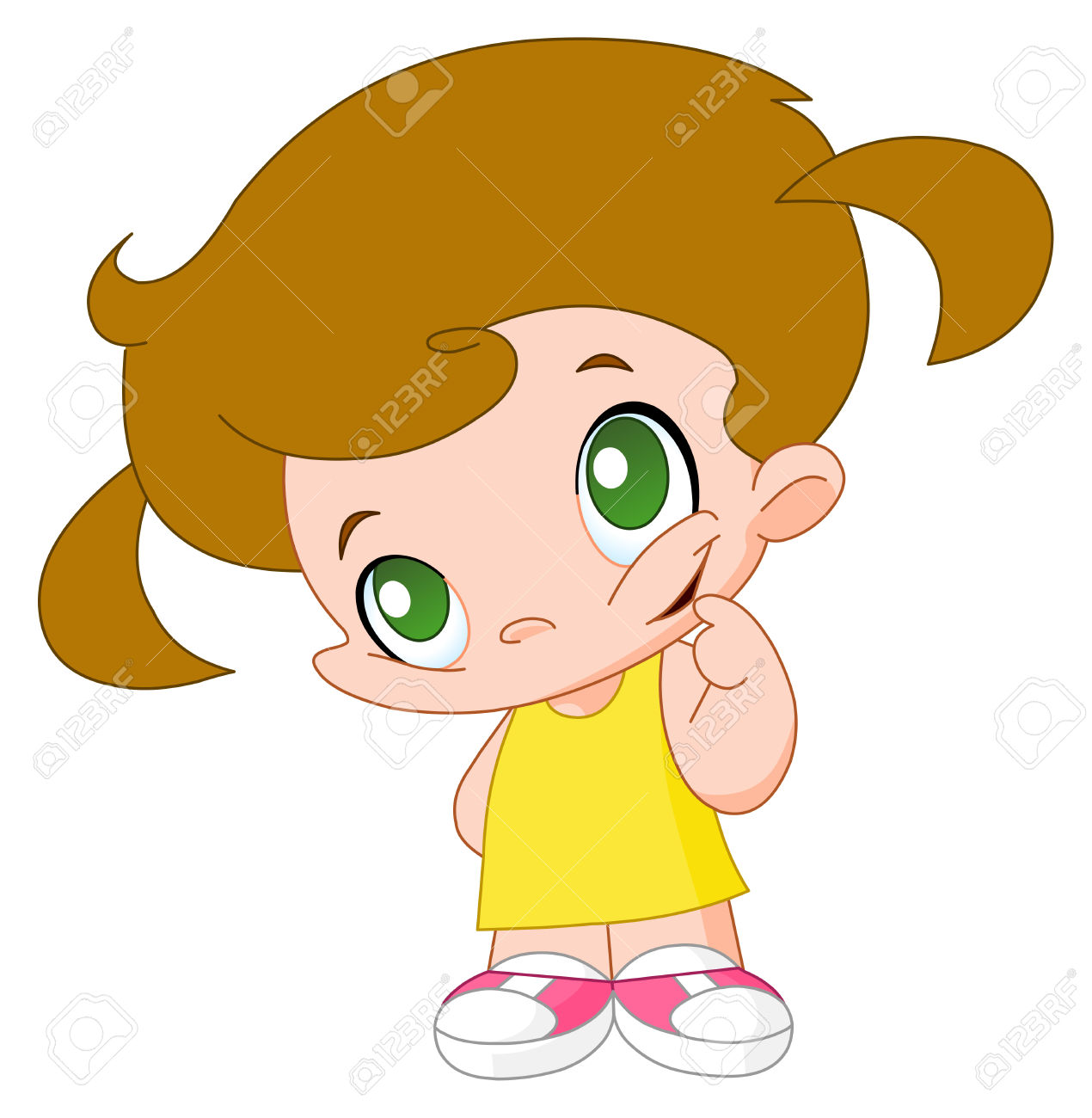 Cute Little Girl Cartoon Images Clipart | Free download on ...