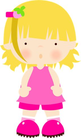 Cute Little Girl Clipart