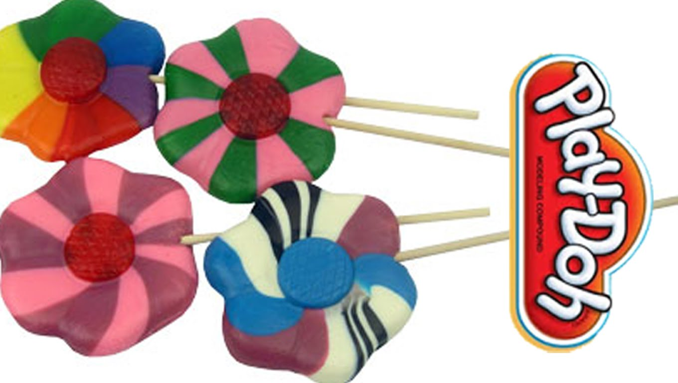 1360x768 Play Doh Flower Lollipops Play Doh Food Creations Play Doh