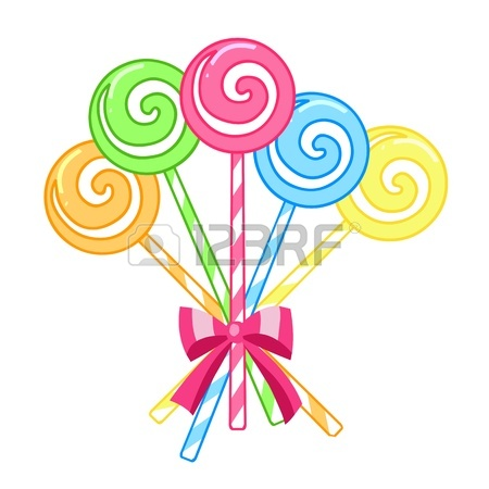 450x450 Striped Candy Lollipops Isolated On A White Background Royalty