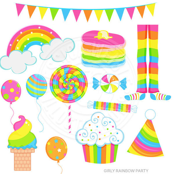 600x600 Sweets Clipart Rainbow Lollipops