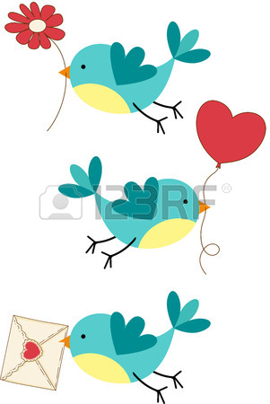 301x450 Couple Love Birds Forming A Heart Royalty Free Cliparts, Vectors