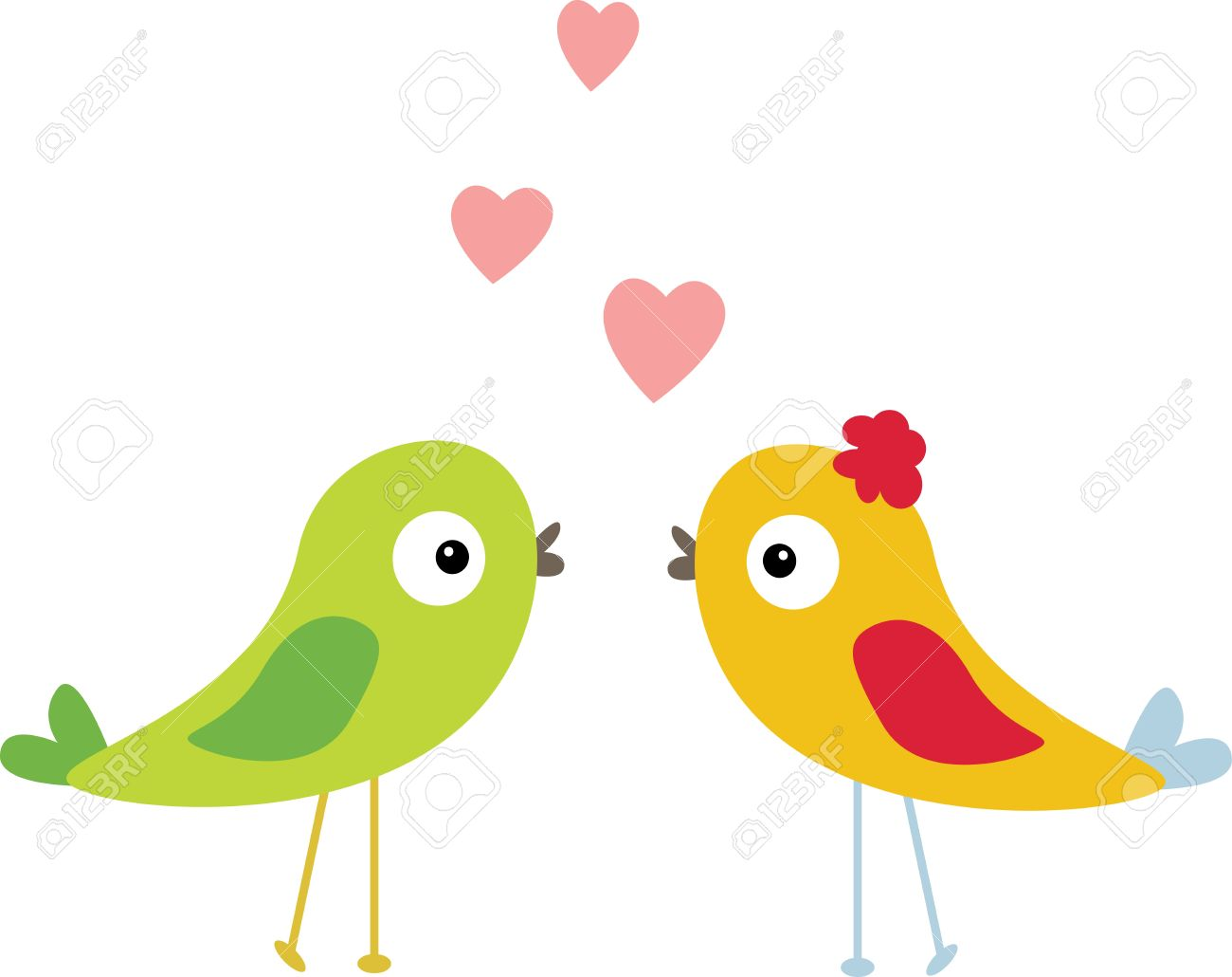 1300x1030 Lovebird Clipart Cartoon