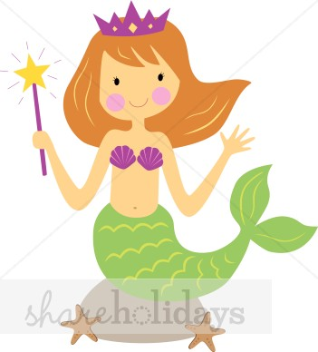 351x388 Clip Art Mermaid