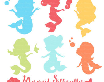 340x270 Mystical Mermaids Cute Digital Clipart Mermaid Clip Art