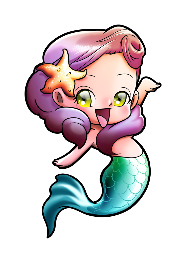 751x1062 Chibi Mermaid By Gomitas