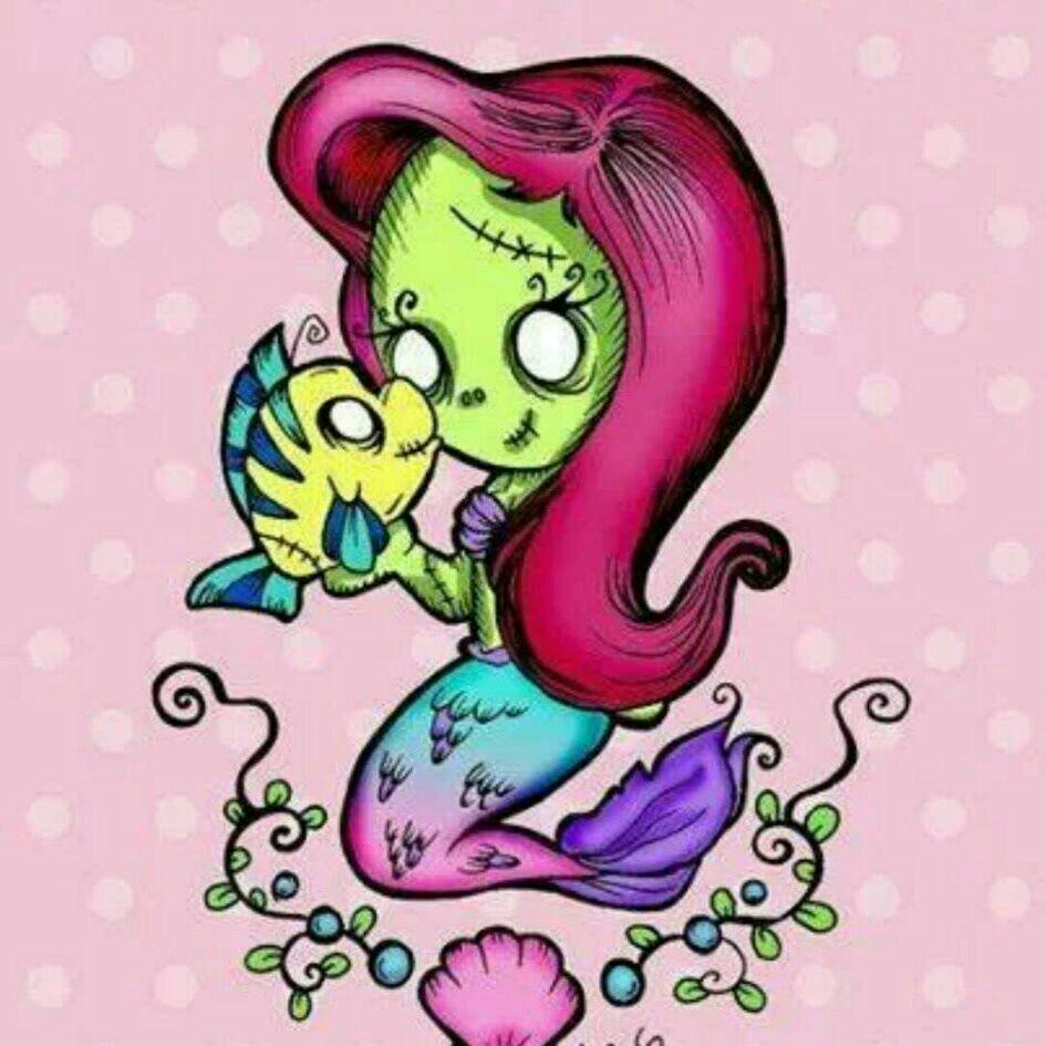 945x945 Zombie Ariel Sooo Cute Disney Ariel