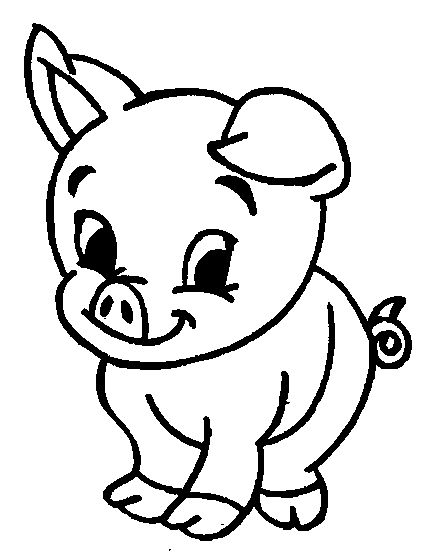 435x557 Best Pig Drawing Ideas Pig Art, Pig