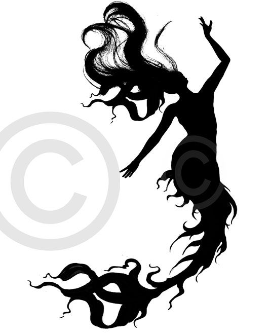 533x663 47 Best Mermaid Silhouette Tattoo Images Childhood