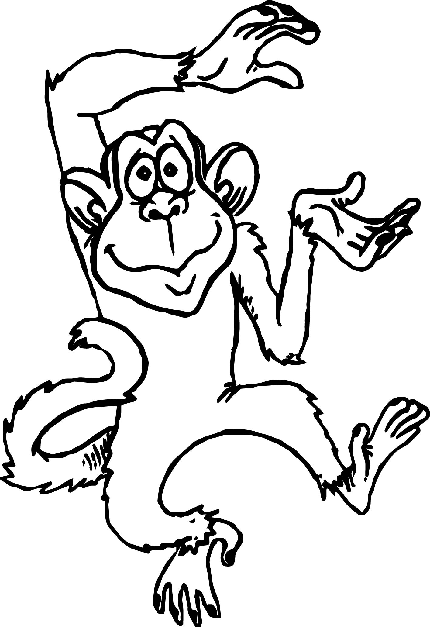 Cute Monkey Drawing | Free download best Cute Monkey Drawing on ...