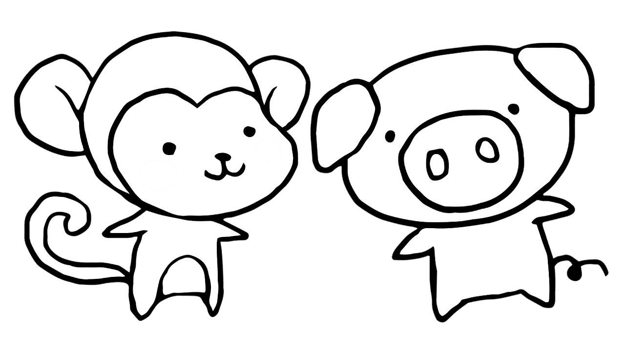 Cute Monkey Drawing Free Download Best Cute Monkey Drawing On