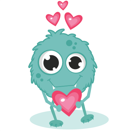 432x432 Monster In Love Svg Cutting Files Monster Svg Cut Cute Monster