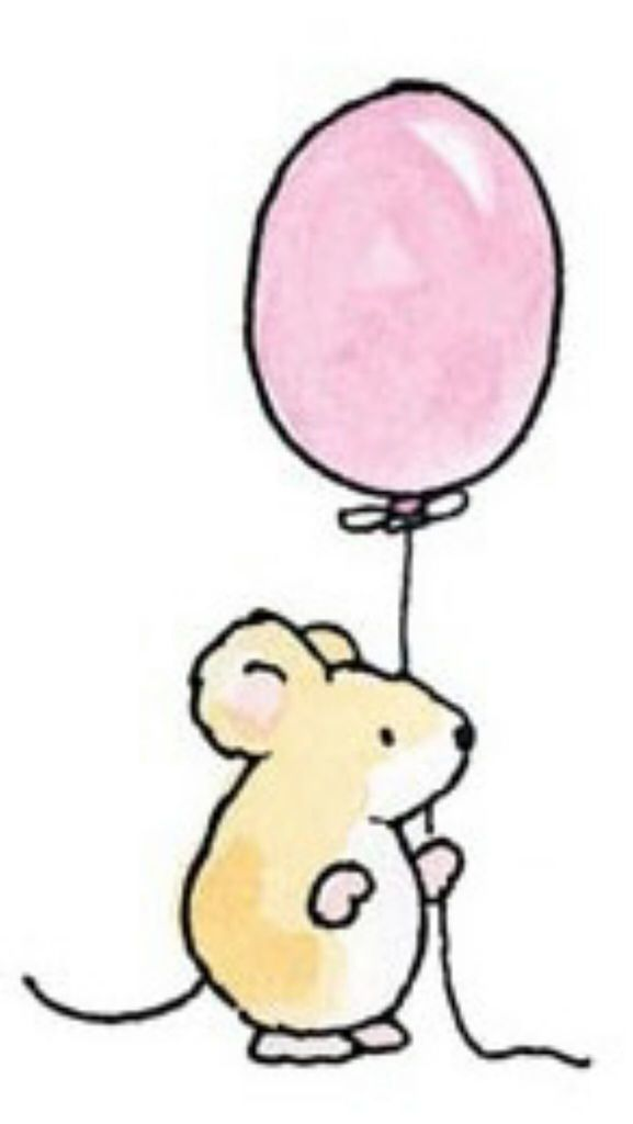 577x1024 Cute Mouse With Pink Balloon On We Heart It