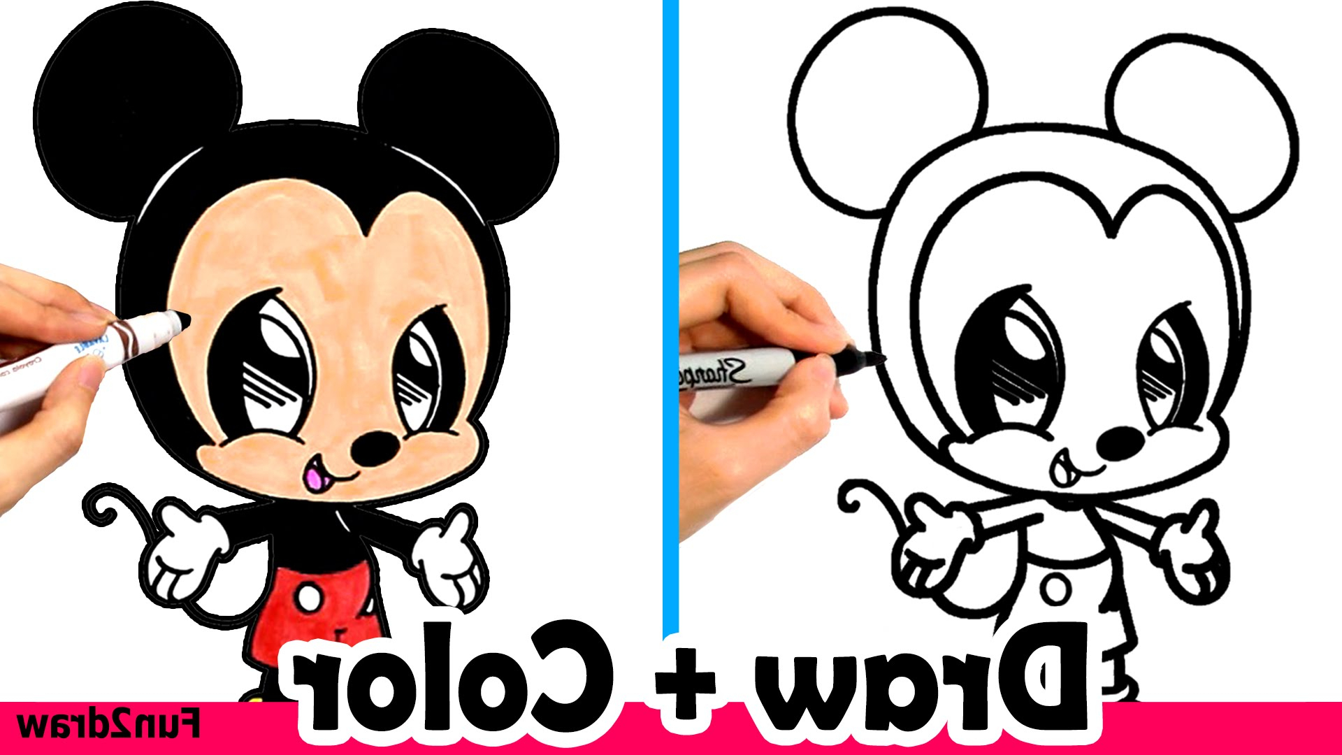 1920x1080 How To Draw Mickey Mouse Cute + Easy And Color With Crayola Within