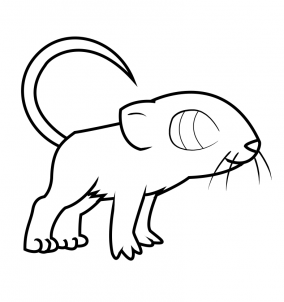 284x302 How To Draw How To Draw A Mouse For Kids