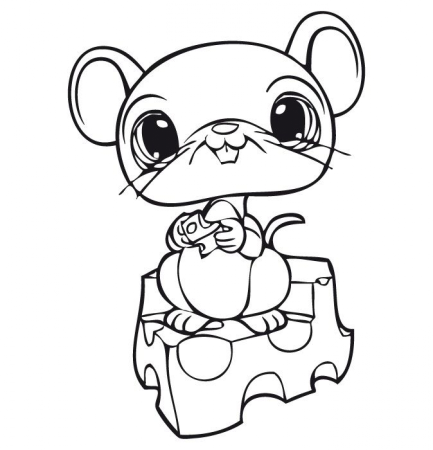866x900 Littlest Pet Shop Cute Mouse Eating Cheese Coloring Pages Animal