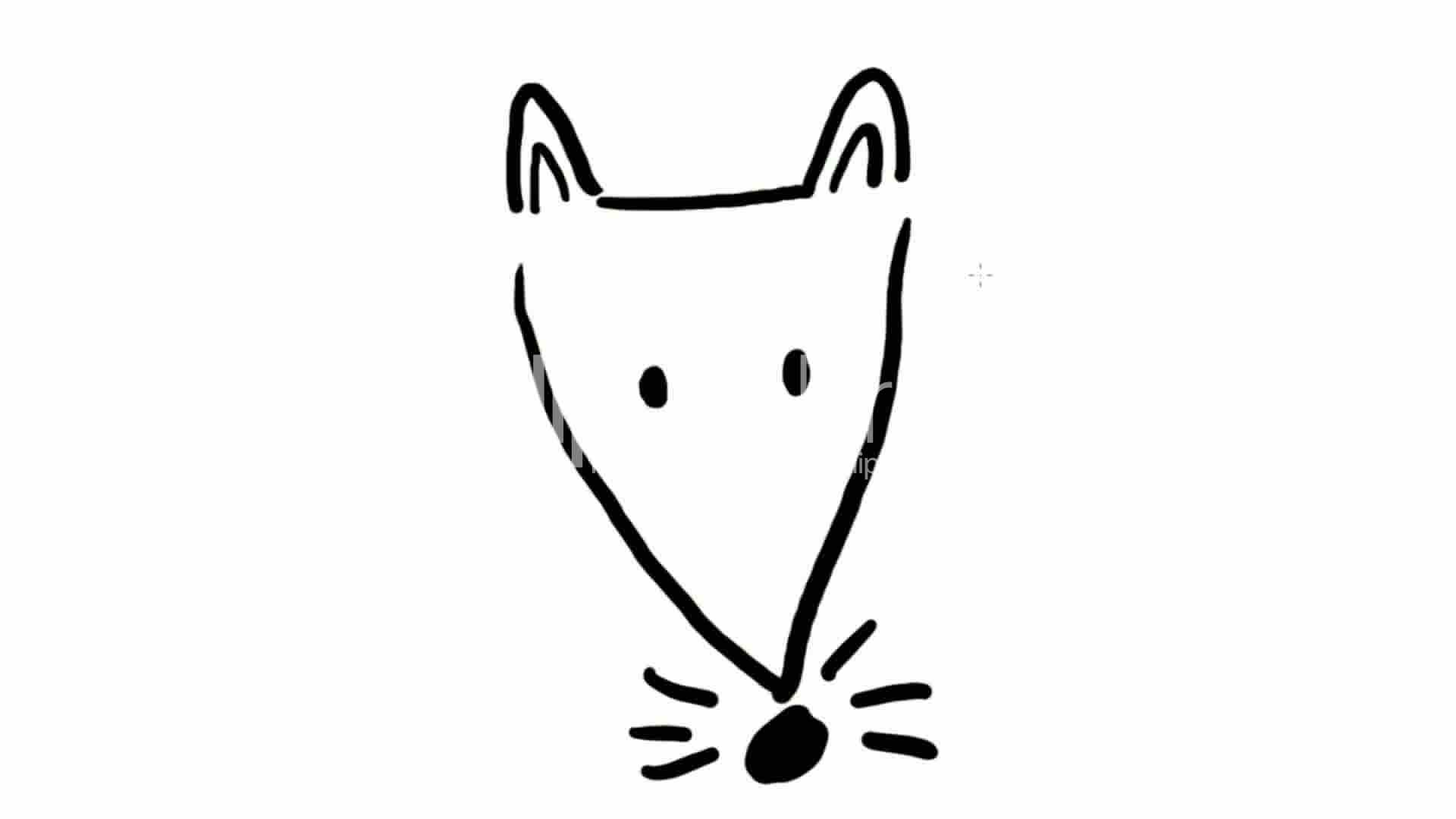 1920x1080 Drawing Of Fox Rat Mouse Dog,hand Painting Video Material,sketch