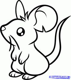 236x264 How To Draw A Cute Mouse Step By Step