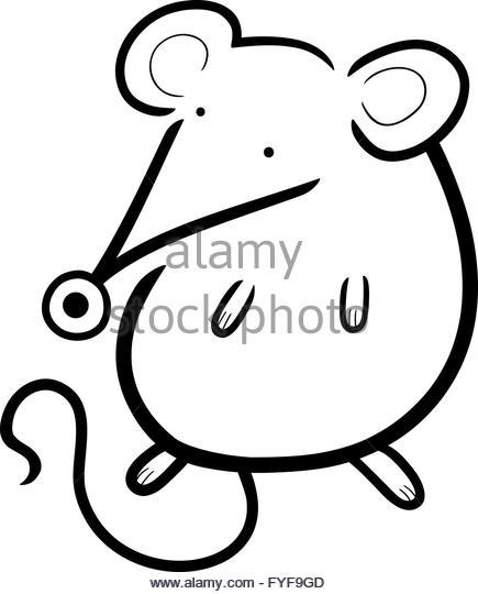 435x540 Black White Cute Cartoon Mouse Stock Photos Amp Black White Cute
