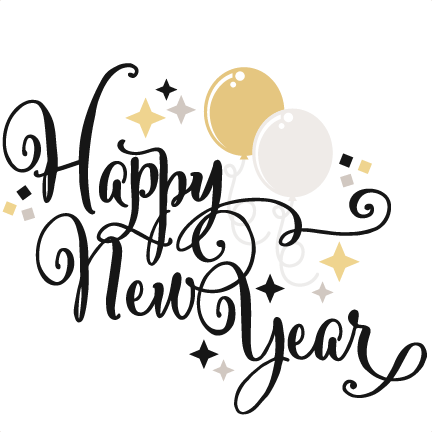 432x432 Happy New Year Svg Scrapbook Title Balloons Svg Cut Files Free