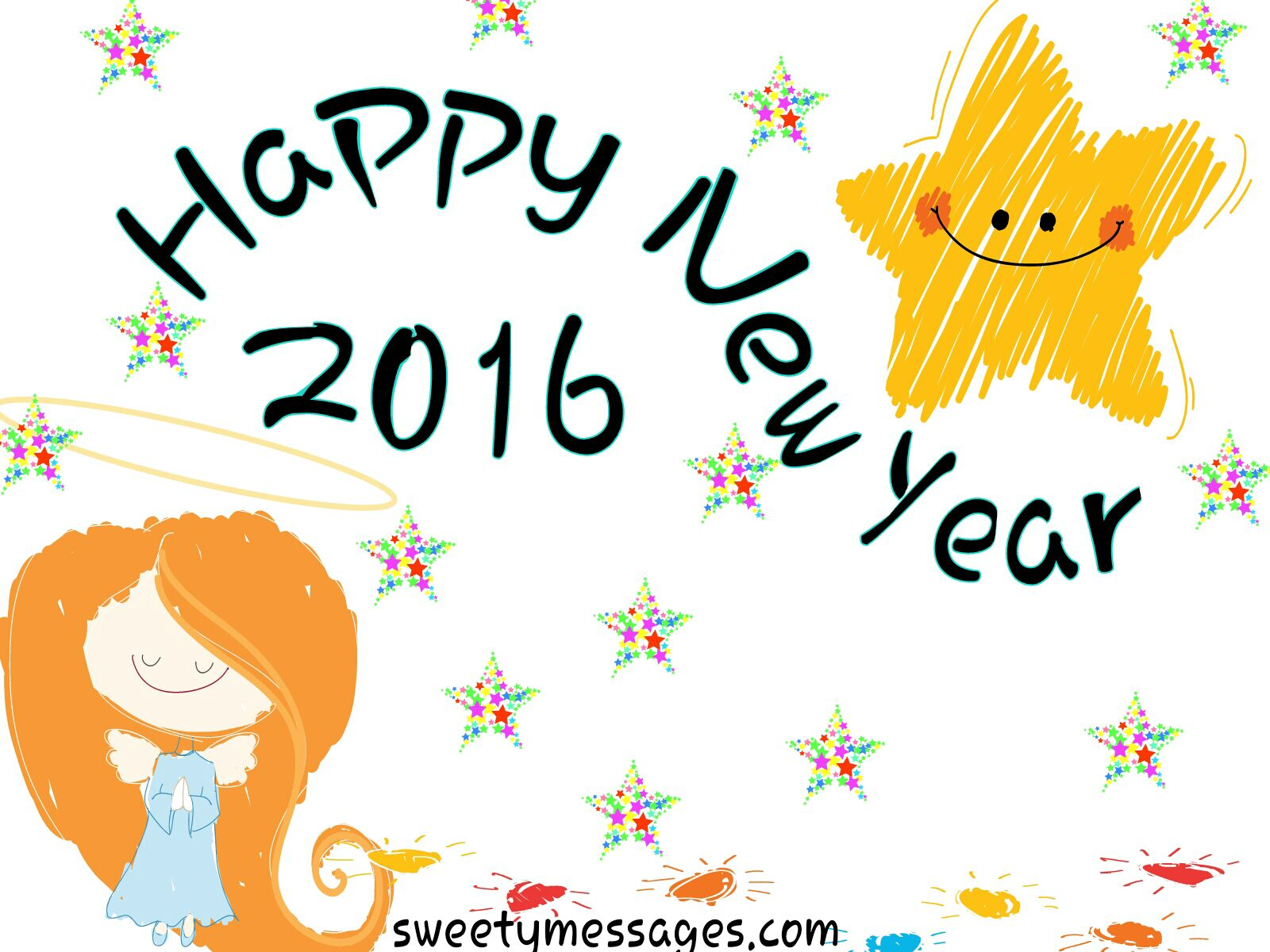 1600x1200 Cute New Year Messages