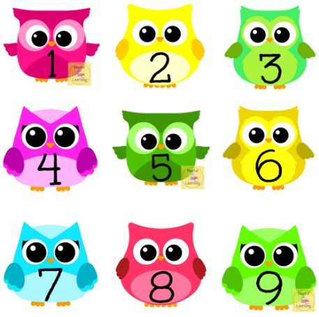 Cute Numbers Clipart