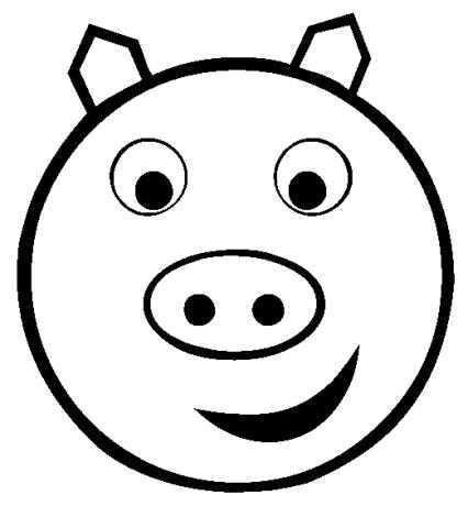 426x460 Cartoon Pig Head