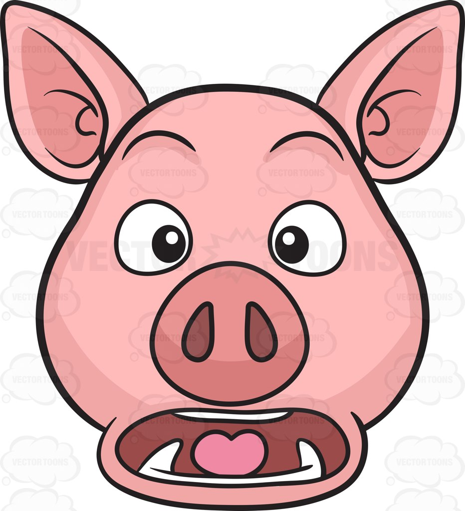 932x1024 A Stunned And Horrified Pig