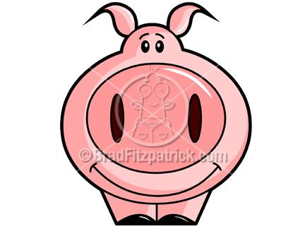 432x324 Pig On A Spit Clip Art