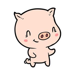 300x300 Cute Cartoon Pig Royalty Free Stock Image