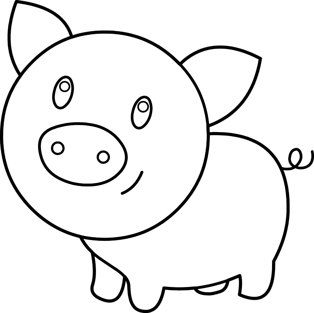 1024x1020 Cute Chubby Clipart Coloring Pages