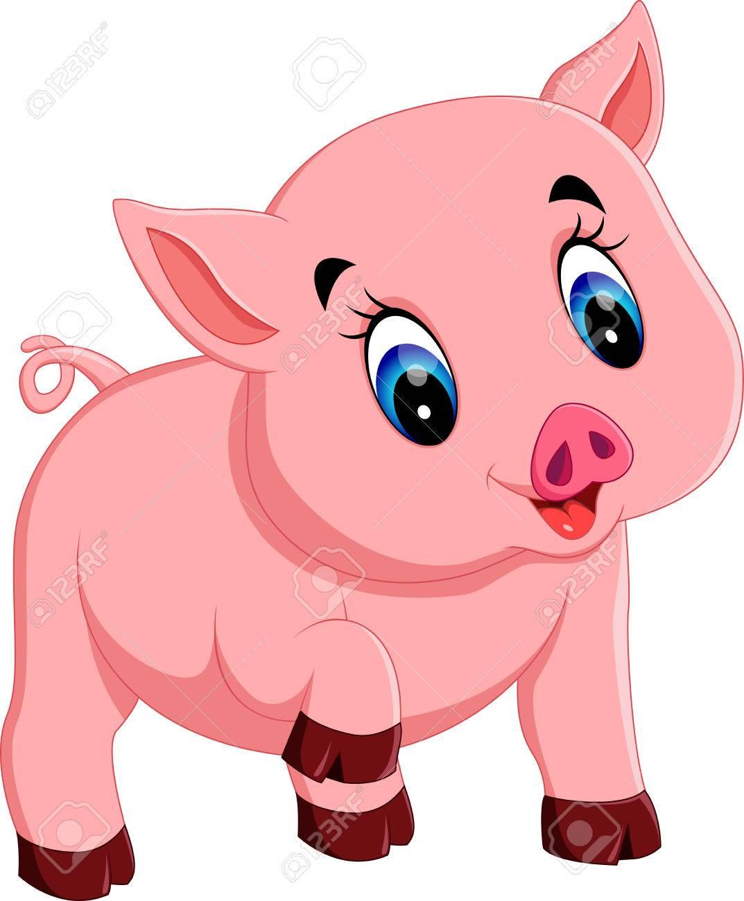1073x1300 Cute Baby Pig Cartoon Royalty Free Cliparts, Vectors, And Stock