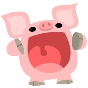 300x300 Cute Cartoon Pig Clipart