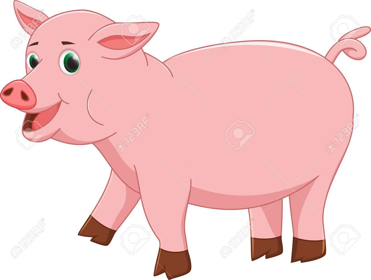 1300x983 Cute Pig Cartoon Royalty Free Cliparts, Vectors, And Stock