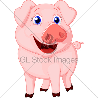 325x325 Cute Pig Cartoon Gl Stock Images