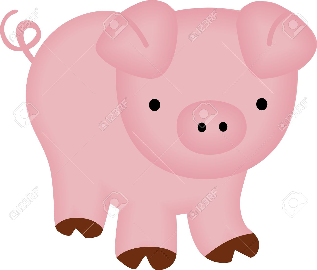1300x1111 Cute Piggy Royalty Free Cliparts, Vectors, And Stock Illustration