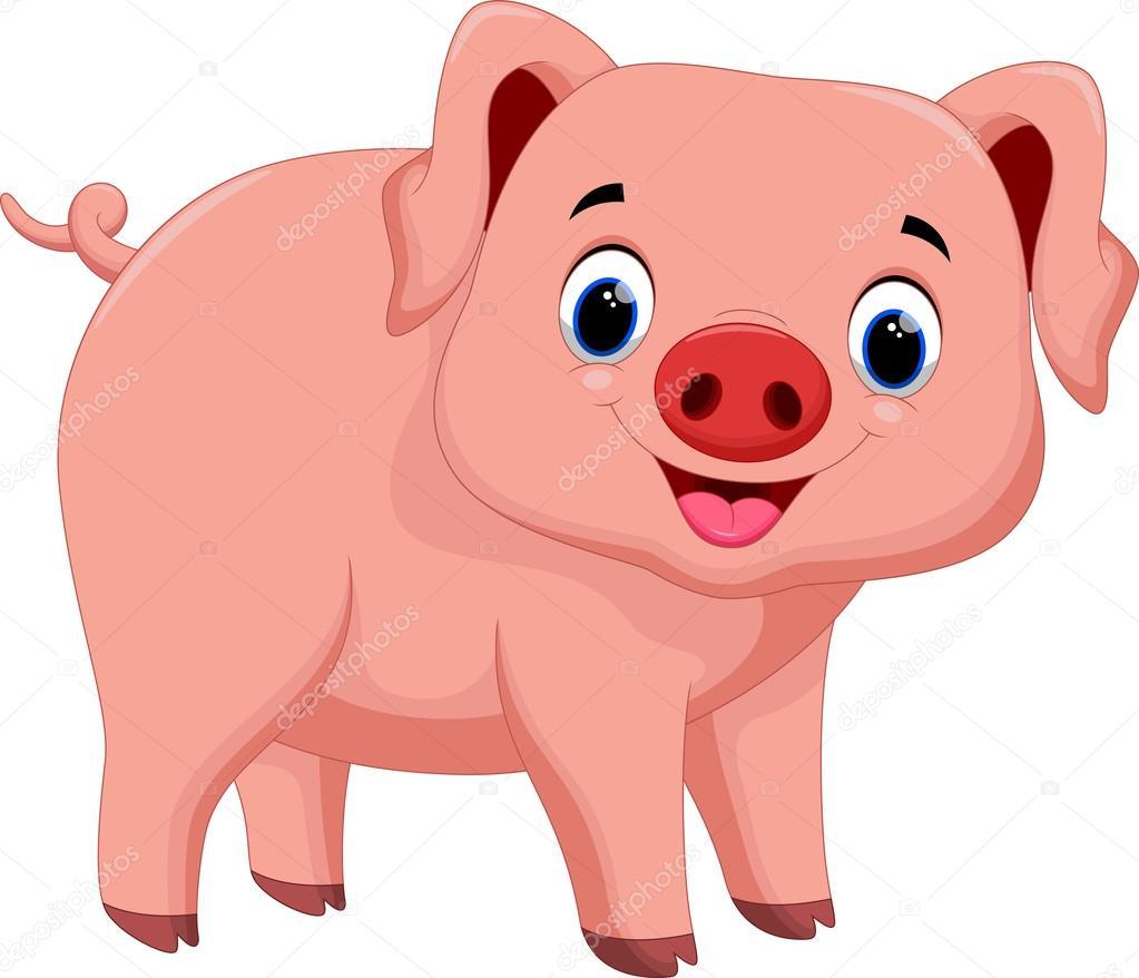 1023x878 Cute Pig Cartoon Stock Vector Irwanjos2