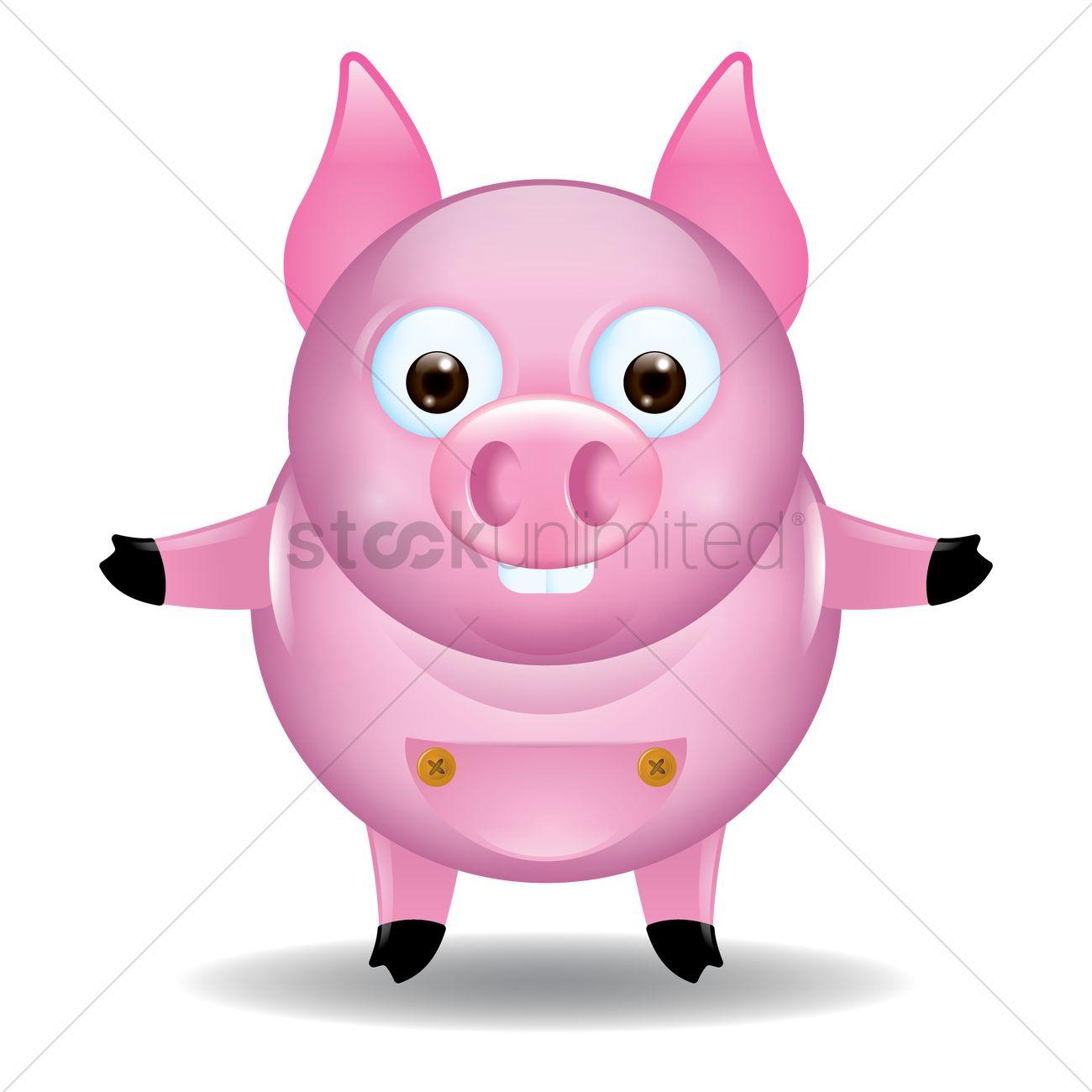 1300x1300 Free Cute Pig Cartoon Vector Image
