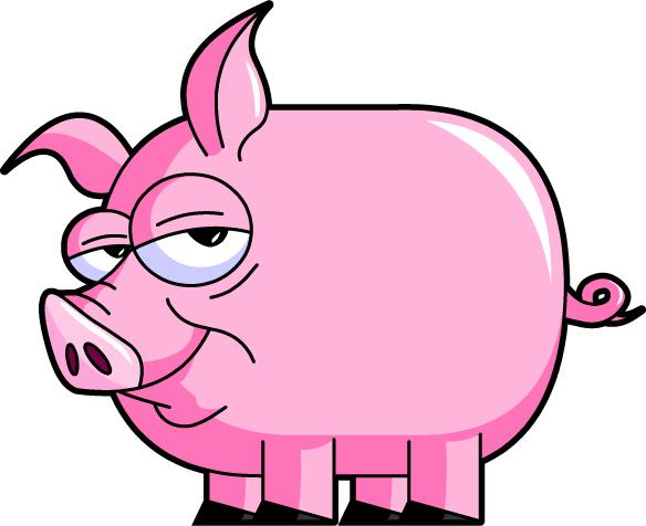 584x476 Funny Pig Clipart
