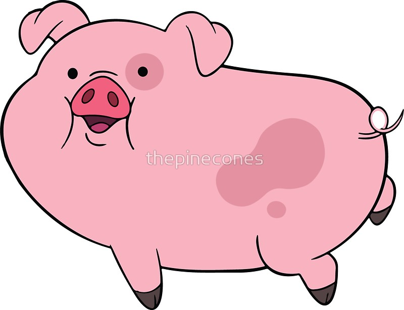 800x614 Waddles Gravity Falls Cute Pig Print Stickers By