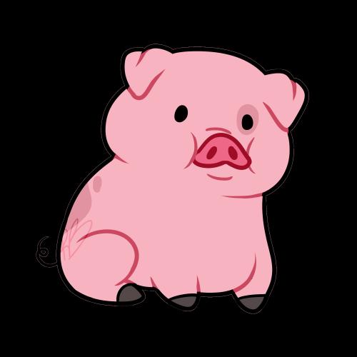 500x500 Cute Pig Cartoon