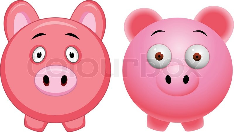 800x451 Baby Pig Cartoon Stock Vector Colourbox