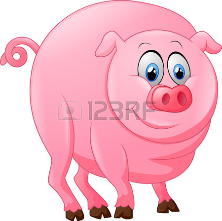450x448 Cartoon Happy Pig Stock Photo, Picture And Royalty Free Image