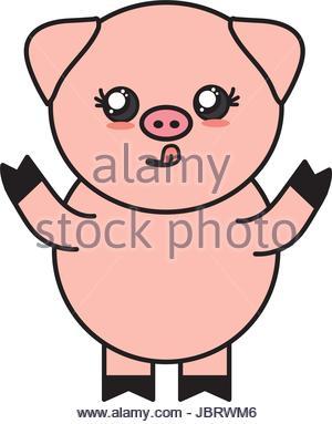 300x383 Character Of Cute Pig Cartoon Stock Vector Art Amp Illustration