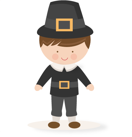 432x449 Thanksgiving Boy Pilgrim Svg Scrapbook Cut File Cute Clipart Files