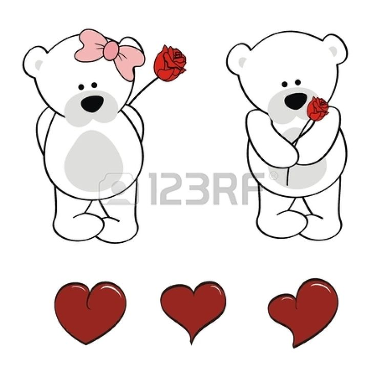 Cute Polar Bear Cartoon Clipart