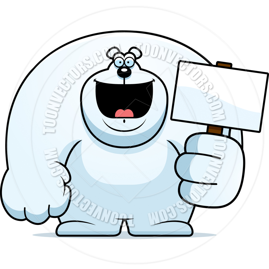 940x940 Cartoon Polar Bear Sign By Cory Thoman Toon Vectors Eps