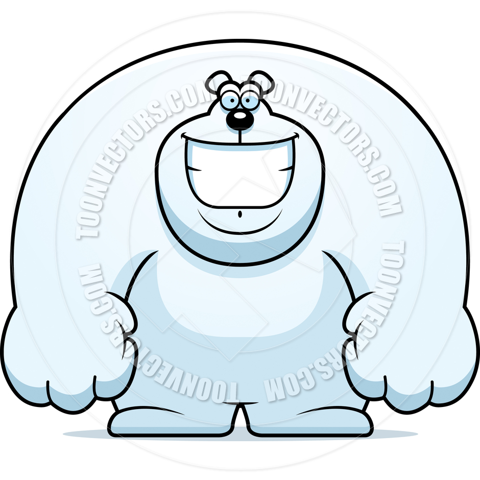 940x940 Cartoon Polar Bear Smiling By Cory Thoman Toon Vectors Eps