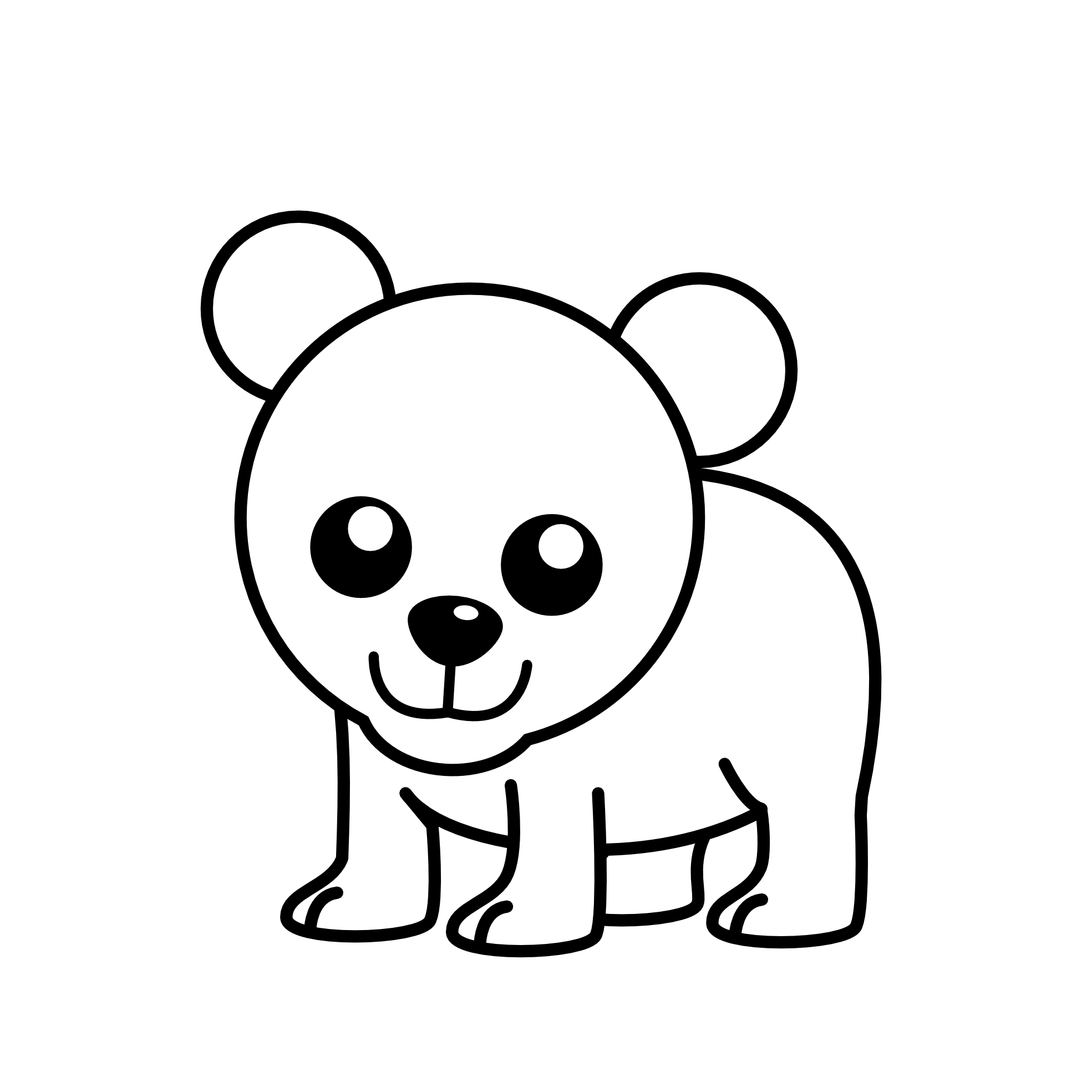 1969x1969 Cub Clipart Black And White